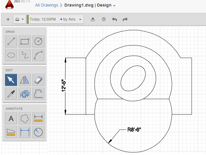 Autocad free online for Online cad drawing software
