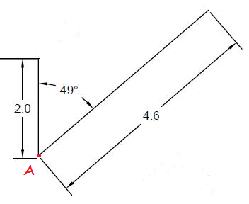 librecad how to draw the line on the angle