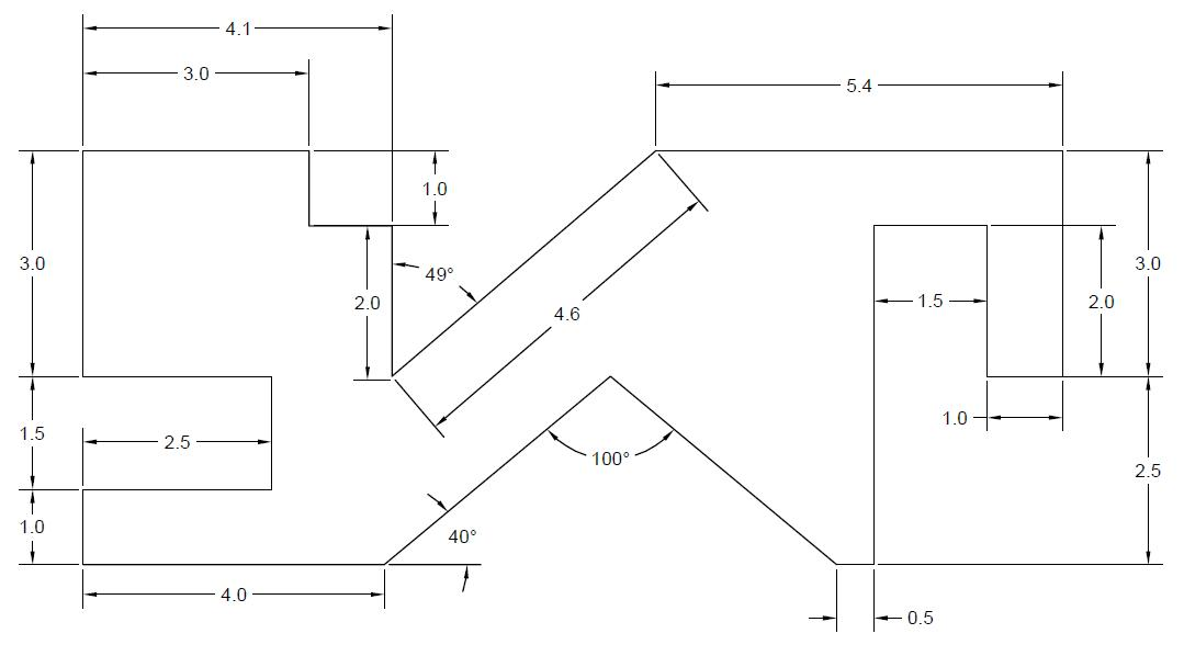 Drawing Lines In Autocad Using Bearings : Days of d autocad exercises cad