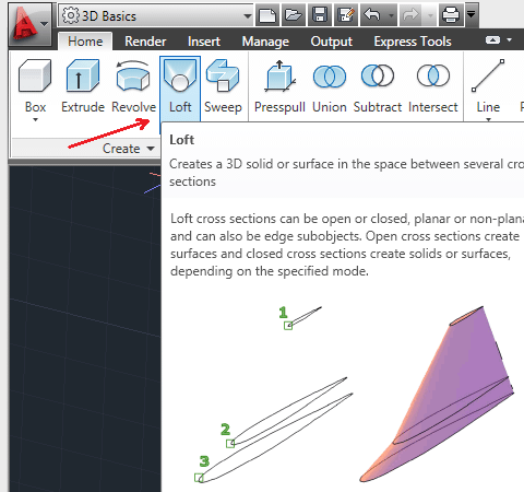 How to use the LOFT command in AutoCAD | 12CAD com