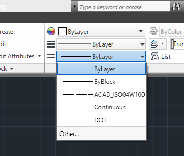 how to change linetype in autocad