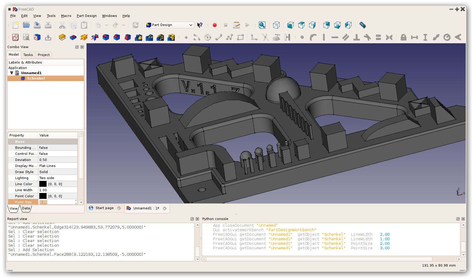 Freecad Free 3d cad software