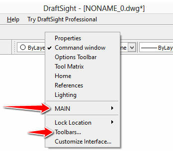 draftsight-toolbars
