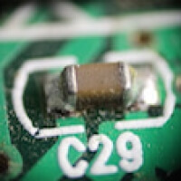 0402 Capacitor on a PCB