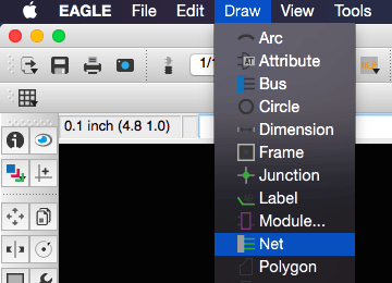 Add a new located in the Draw Menu in Eagle Schematic