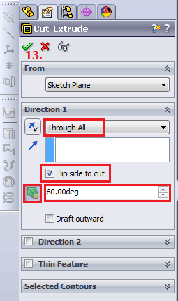 Cut Extrude menu options