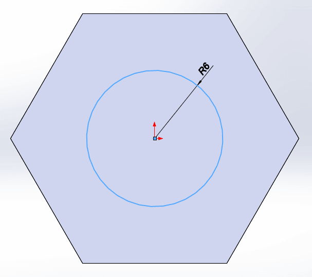 Draw another circle for both thread