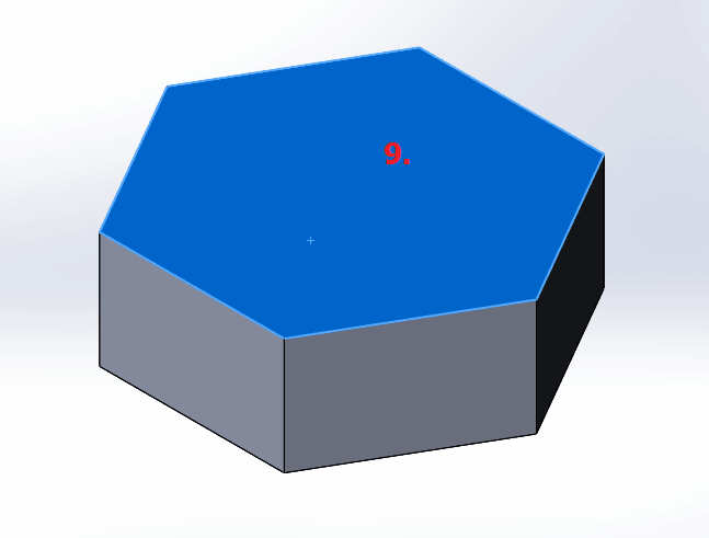Tangent polygon in solidworks