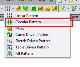 Choose circular pattern