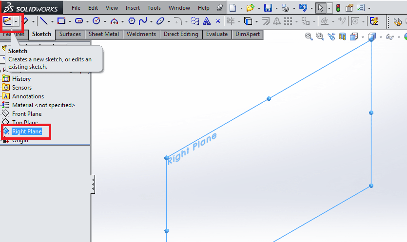 Coffee Cup in SolidWorks front plane