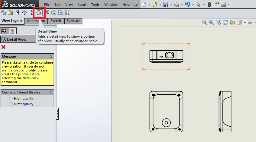 3 Useful Types of Drawing Views in SolidWorks | 12CAD com