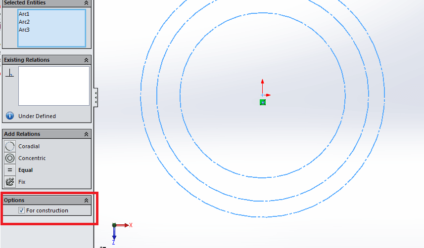For construction in solidworks