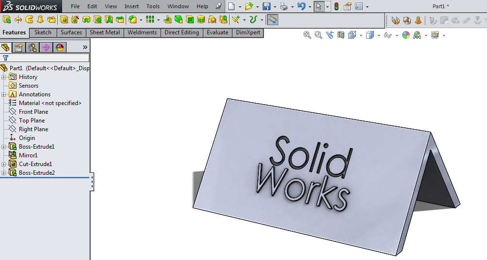 How To Engrave Or Emboss Text On A Part In Solidworks