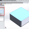Uniform wall thickness using shell feature