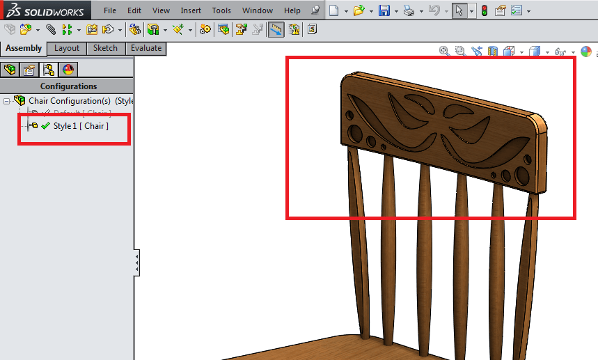 final chair with configurations
