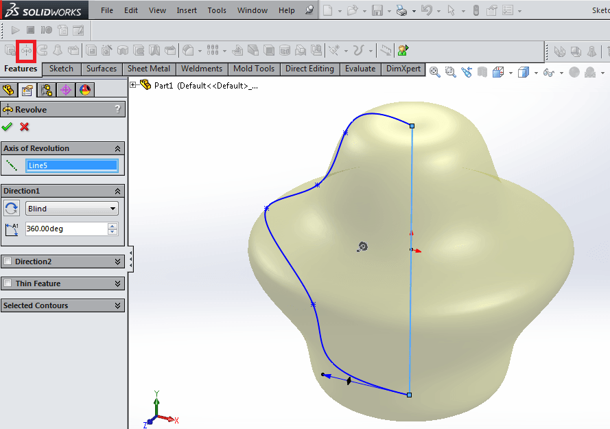 solidworks tip 3 is to use revolved boss base feature