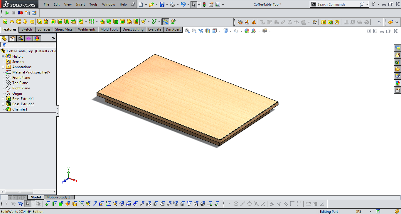 table top solidworks model 1