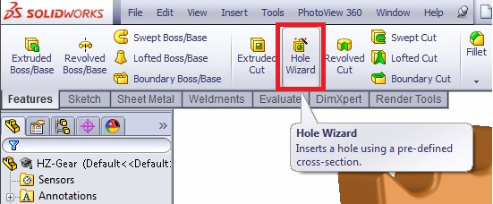 How to use Hole Wizard in SolidWorks | 12CAD com