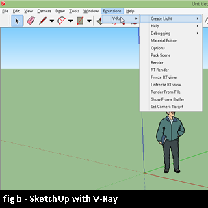 sketchup with vray rendering extension