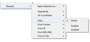 Maxwell for SketchUp context menu