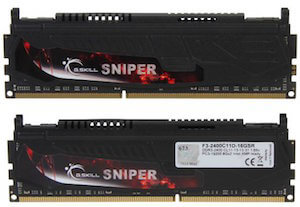 G-Skill Sniper series is good ram for cad