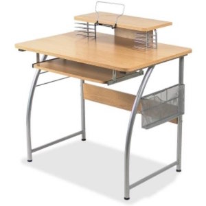 Upper Shelf Laminate Computer Desk by Lorell review