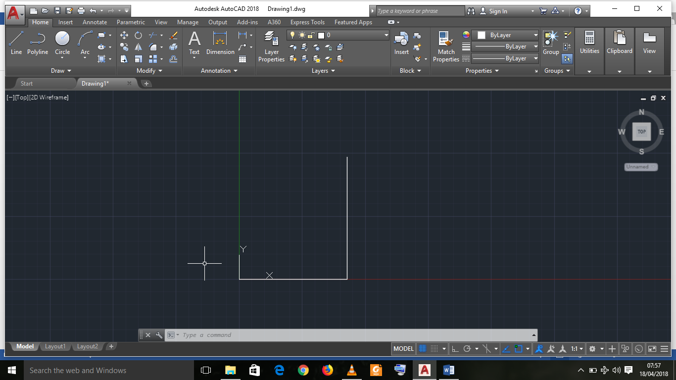how to draw a line in autocad